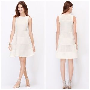 Ann Taylor Dresses & Skirts - Stunning Ann Taylor White Netted Dress