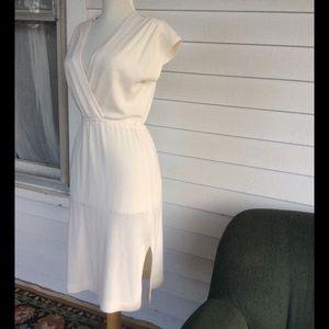 Vintage Fleece Deep V Dress