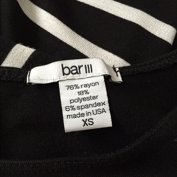 Bar III Dresses - Bar III black and white dress; size XS