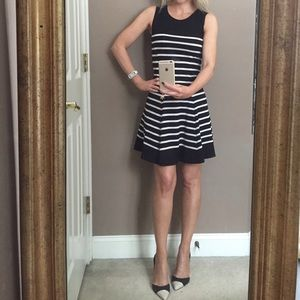 Bar III black and white dress; size XS