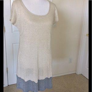 MSK Dresses & Skirts - MSK Shimmery Gold & Silver Metallic Dress 🎉HP🎉