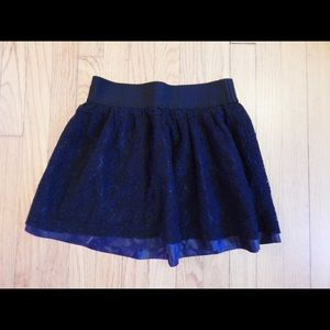 Forever 21 Black Lace Skirt Size M