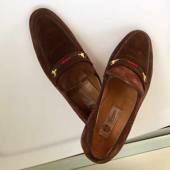 0774d4d11 Gucci Shoes | Mens Brown Suede Loafers | Poshmark