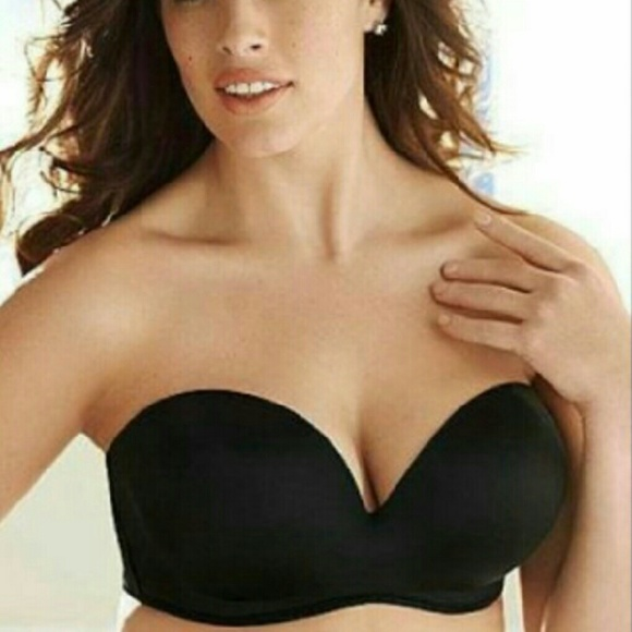 d0f110c9c19b0 Lane Bryant Other - New black cacique strapless bra 40DDD