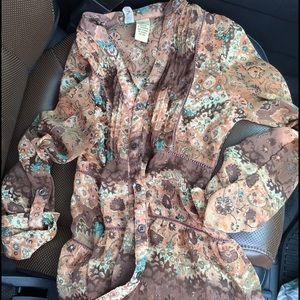 BKE Tops - ‼️FINAL L/S sheer blouse