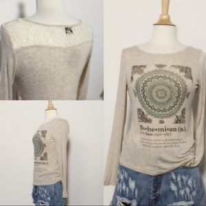 April Spirit Tops - Long sleeve Bohemian tshirt