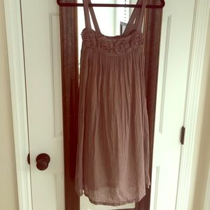 Piko 1988 brown and gold shimmer dress size Large