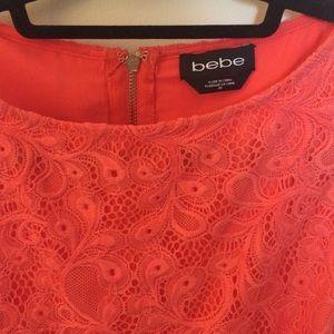 bebe Dresses - 💐 Bebe 💐 Coral Lace Cutout Back Dress