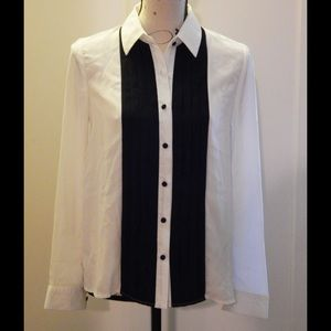 Black and White Tuxedo Shirt Size M