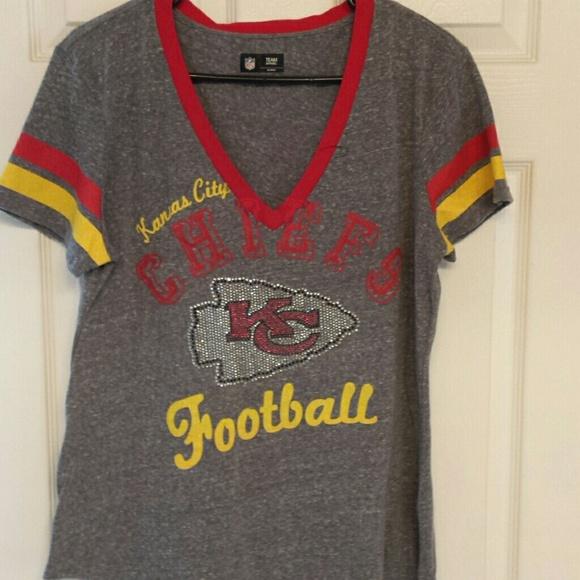 c66f46add5873 Womens Bling Kansas City Chiefs T. M 57d70c4bf0137d845c02c6aa
