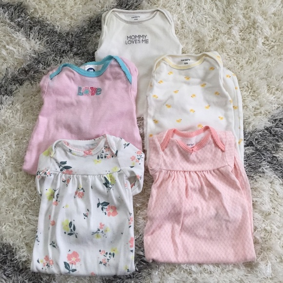 Carter\'s Pajamas | Carter Newborn Sleeper Gowns Bundle | Poshmark