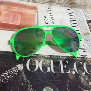 Accessories - Neon Green Aviator