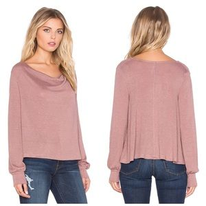 NWT free people Palmer cowl neck tee size Large