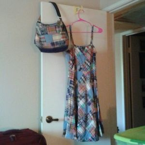 🇺🇸Patchwork dress with matching bag 🇺🇸