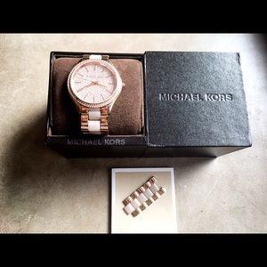 Michael Kors Slim Runway Crystal Pave Watch