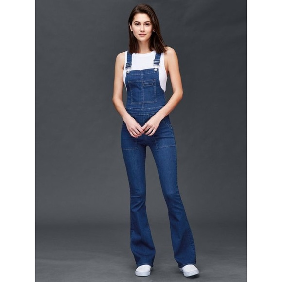 c41fb937429 GAP Pants -  Gap 1969 denim flare overalls