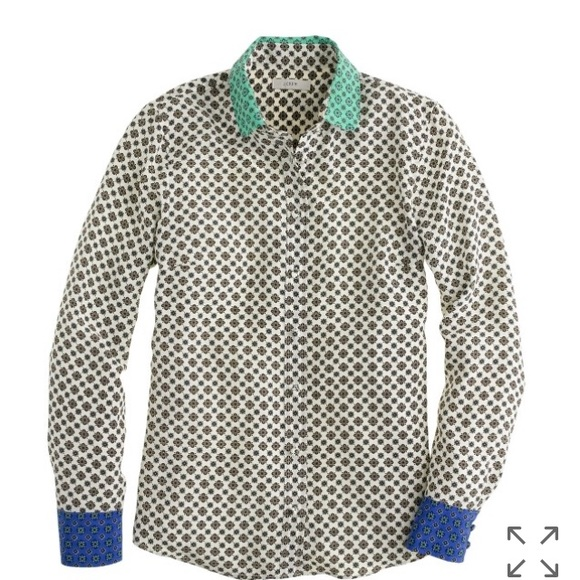 j crew tops j crew silk foulard color block blouse - Foulard Color