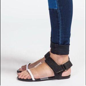 Cheap Monday Denim Sandals.