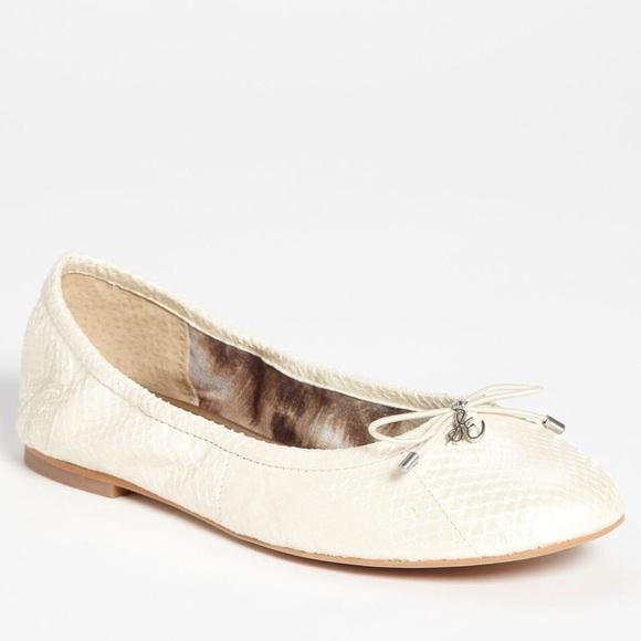 55c3bfdf62d7c SAM EDELMAN White Pearl FELICIA ballet flats. M 57d720a07fab3ab16d02f889