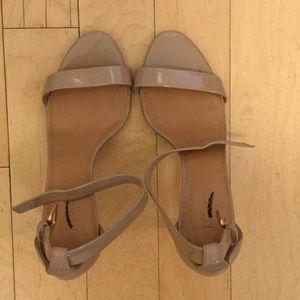 J.Crew Nude Patent Sandals