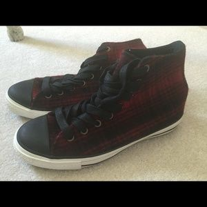 Converse x Woolrich High Top Plaid Sneakers