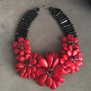 Handmade beaded and stone necklace! Never worn!