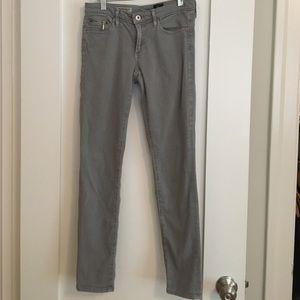 AG Gray Slim Straight Leg Jeans