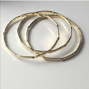 Iconic Legend Jewelry - 🐌Last One!🐌Set of 3 gold plated bangle bracelets