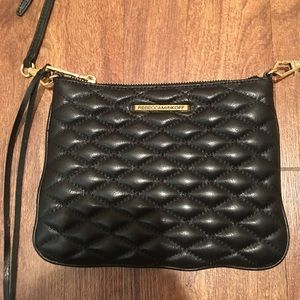 Rebecca Minkoff black pleated purse
