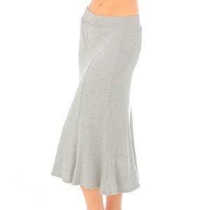 Dresses & Skirts - Heather gray mermaid flare hem midi skirt