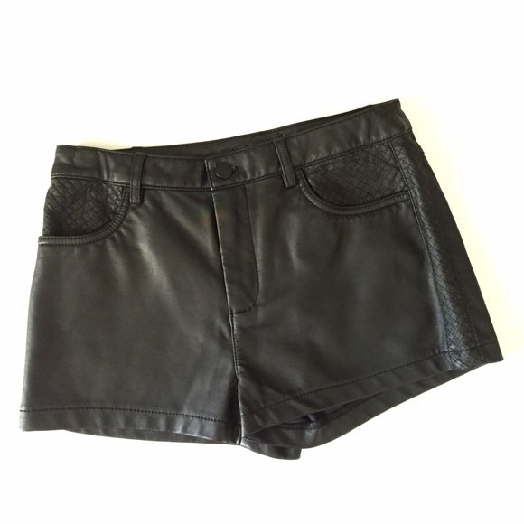 Forever 21 Pants - Forever 21 soft faux leather shorts; size S