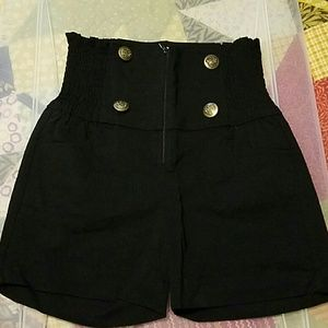 Pants - Brand new hi waist black shorts