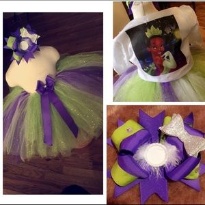 Other - Tutu AND BOW custom made! Any color..