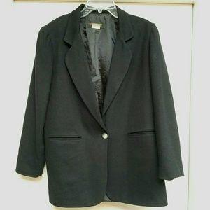 Vintage Black Harris/Wallace Wool Coat