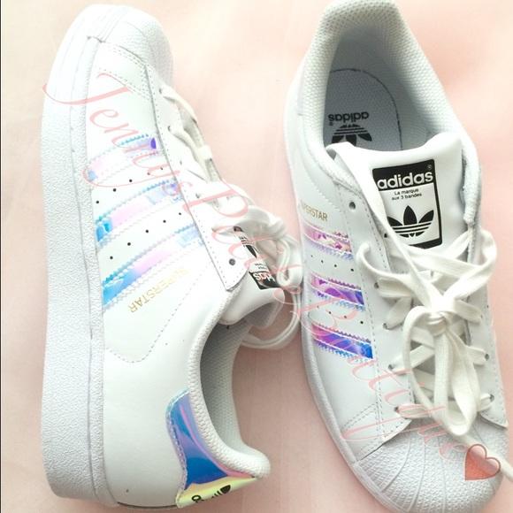le adidas superstar olografico poshmark iridescente