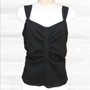 Akris Tops - Akris 100% Wool Ruched Blouse Silk Lined 10