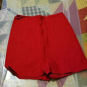 Pants - Brand new Red high waist  shorts