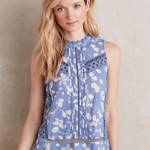 Anthropologie Laced Swing Tank