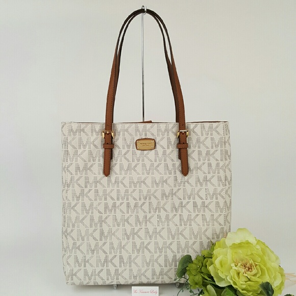 4b7e738eccddd Michael Kors Jet Set Travel Tote vanilla purse bag