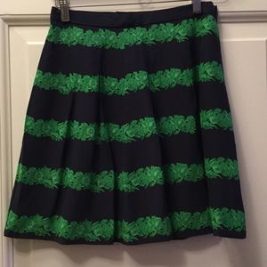 J.Crew Green and Blue Skirt