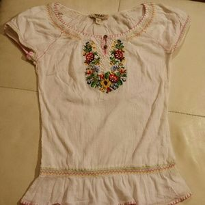 Vintage America Co. Tops - VAC Embroidered Mexican Boho Chic Gauze Top XS