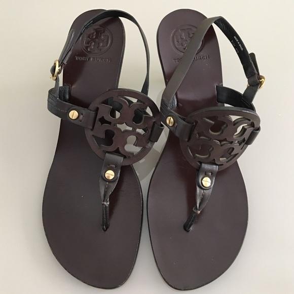 f5079af95174 Tory Burch Miller Kitten Heel Sandals. M 57d743a599086aa340032f80