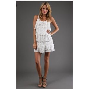Testament Dresses & Skirts - Testament White Tiered Lace Dress