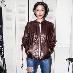 Jackets & Blazers - Brown faux Leather Jacket