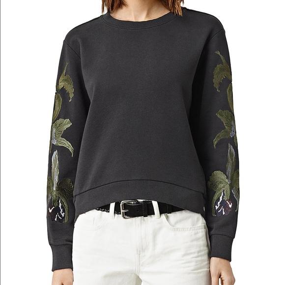 2d8dca9a6ea ALLSAINTS NWT Anya Embroidered Sweatshirt