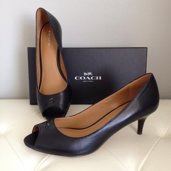 ea5a7ed6b7f44 Coach Shoes | Nwt Delilah Matte Calfpatent Peeptoe Pump | Poshmark