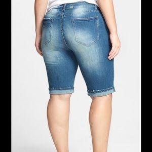 f4df748f94 City Chic Shorts | Distress Roll Cuff Denim Bermuda | Poshmark