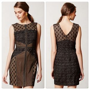 Anthropologie Lace Topography Sheath