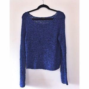 Trouve Sweaters - Trouvé Wide Knit Cerulean Sweater