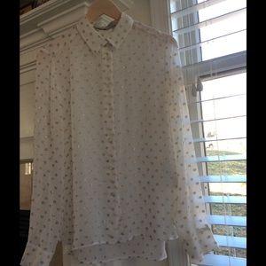 Stella McCartney Tops - 100% Silk Button Down Blouse By StelleMcCartney